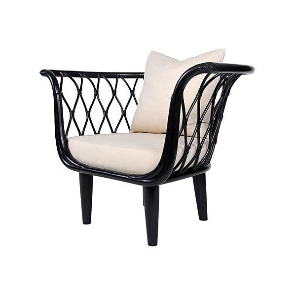 Amsterdam Rattan Bucket Chair Black Accent & Occasional Chairs (€1.700) ❤ liked on Polyvore featuring home, furniture, chairs, accent chairs, rattan chairs and rattan furniture