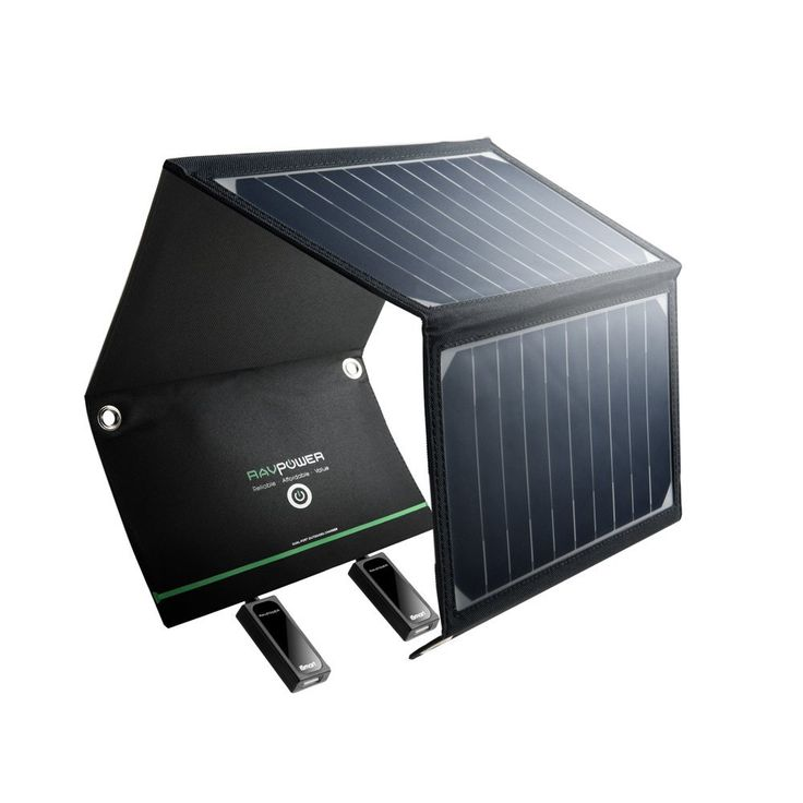 RAVPower 16W Solarladegerät Outdoor Charger mit 2 iSmart-USB-Port für Camping Wanderung Bergsteigerei / Disaster Prevention für Andriod Smartphone Tablets Apple iPhone iPad usw.
