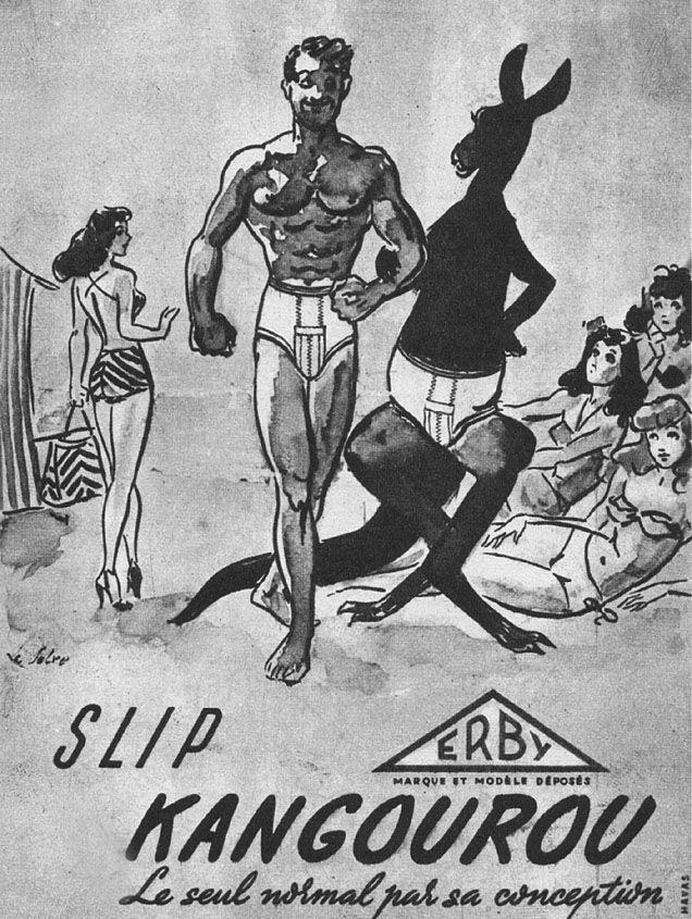 Publicité Kangourou 1950