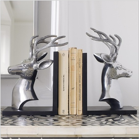 128 best bookends images on pinterest bookends books and bookshelves - Stag book ends ...