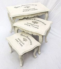 vintage shabby chic decal transfer to furniture and wood, painted furniture, shabby chic from Touch the Wood