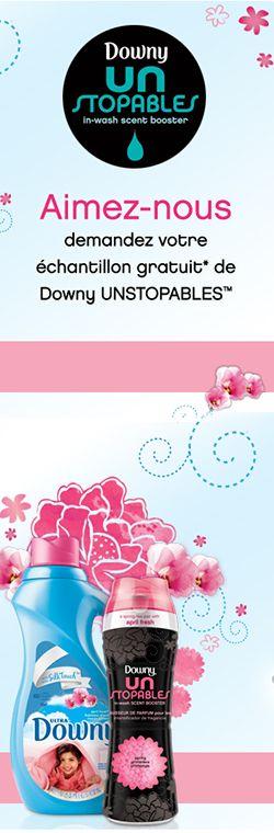 Échantillon de Downy Unstopable ! Faites vite, Downy vient de mettre en ligne de nouveaux échantillons Untopable. http://rienquedugratuit.ca/echantillon-gratuit/downy-unstopable/