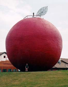 World's largest Apple, Cobourg Farmers Markets, Canada.