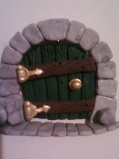 17 best images about polymer clay fairys friends on How to make a fairy door out of clay