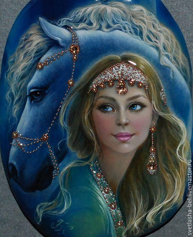 Купить Эгесихора.. подруга Таис..) - разноцветный, лаковая миниатюра, живопись маслом, живопись на камне