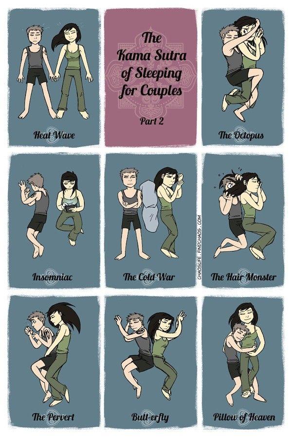 """¿Hartos de dormir """"de cucharita""""? El Kama Sutra para dormir en pareja nos da algunas opciones"""