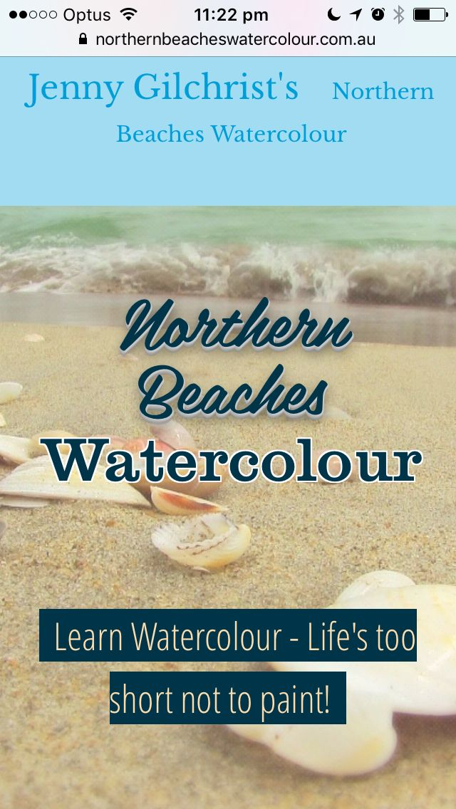 Check it out! Northern Beaches Watercolour holds watercolour painting classes on Sydney's Northern Beaches. Come and learn to paint in watercolour with us!