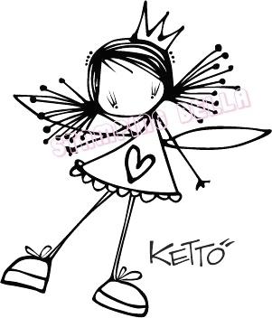 Lulu Ketto Stamping Bella Unmounted Rubber Stamp Craft | eBay