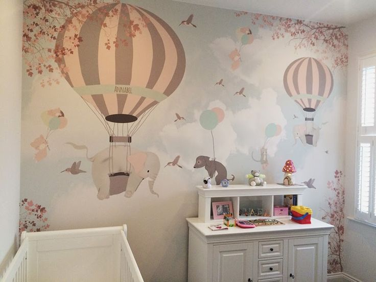 little hands. Amazing wallpapers for nursery or kids room. Love the elephant