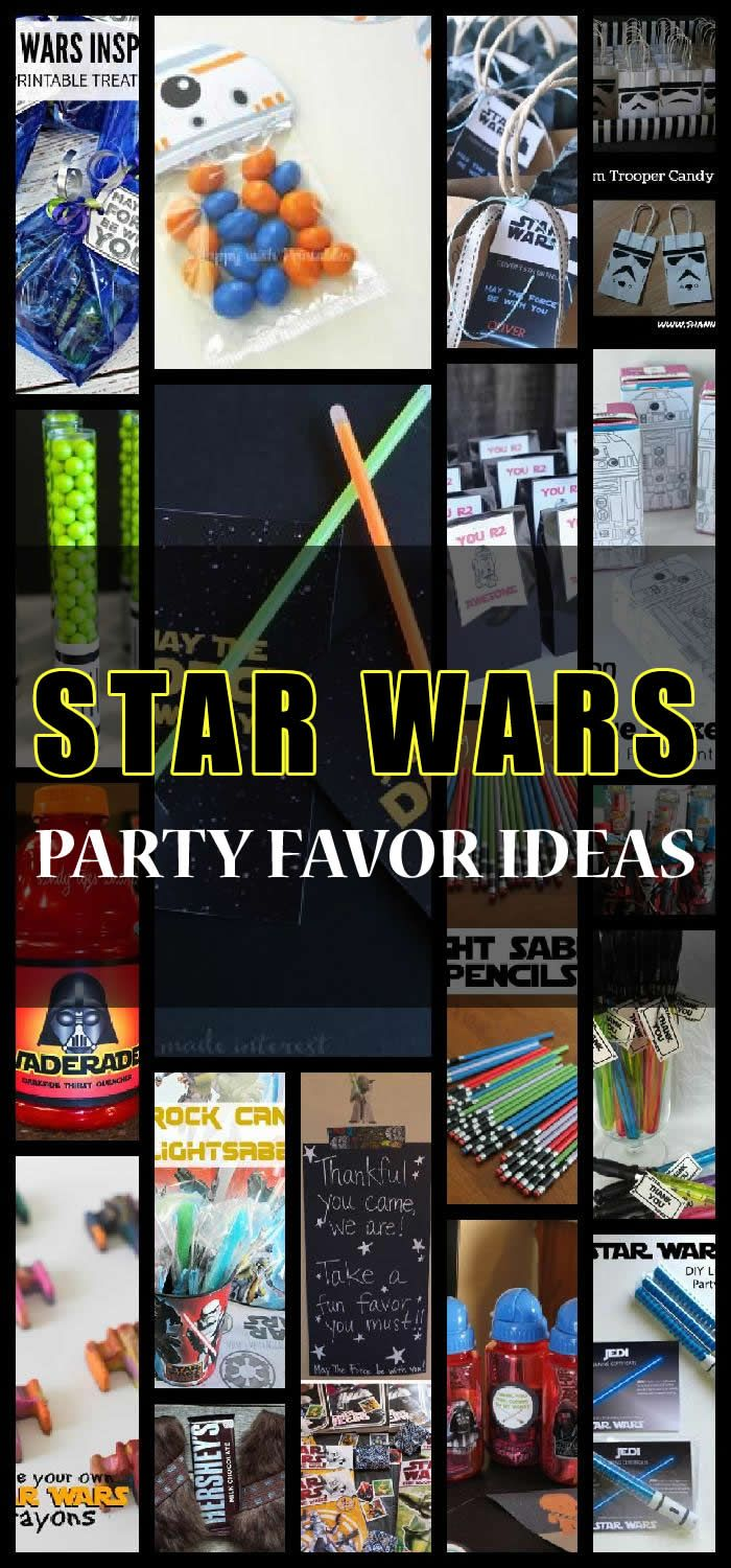 Looking for unique star wars party favor ideas. Here is a list of cute and simple ideas for your kids star wars celebration