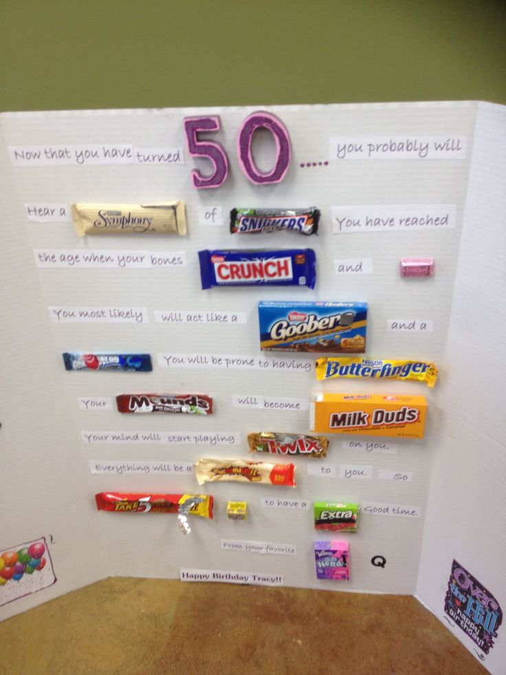 50th Birthday Gift Creative Birthday Gifts Pinterest
