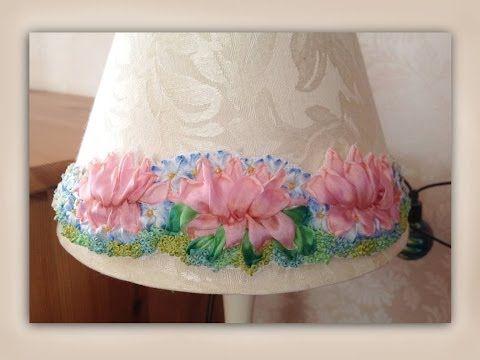 The 542 best ribbon embroidery images on pinterest silk ribbon how to make a silk ribbon embroidery lampshade embellishment youtube craftyattic mightylinksfo
