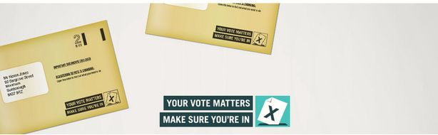 The way you register to vote in the UK is changing. You should have received a brown envelope and letter telling you how you stand. if you have recently moved, or have never voted before go to: https://www.gov.uk/register-to-vote