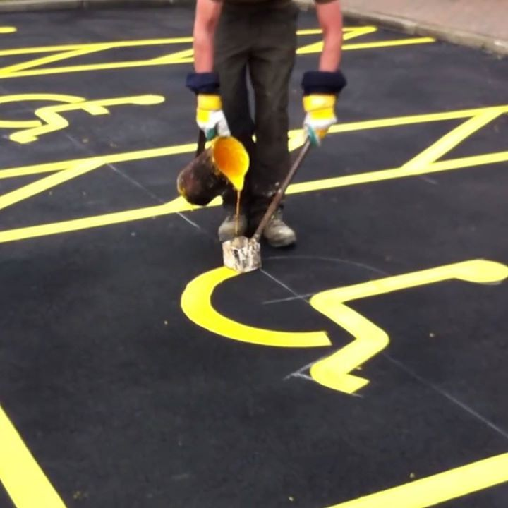 I could watch road markings being painted all day
