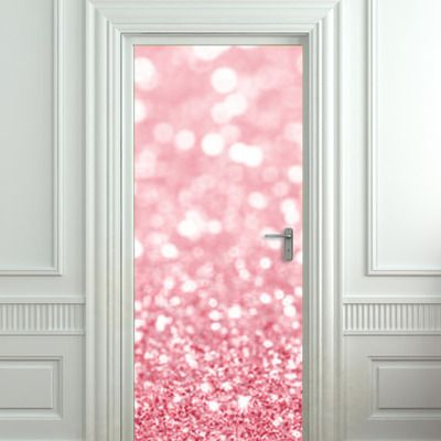 Door cover STICKER poster bling glitter rose decole sparks by Pulaton  sc 1 st  Pinterest & 103 best DOORS u0026 WALL STICKERS ELEVATOR images on Pinterest ... pezcame.com