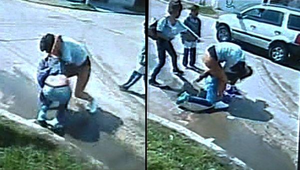 """El video de la paliza a la chica """"linda"""" en la escuela de Quilmes.   Se difundieron las imágenes del tremendo caso de bullying en el sur del conurbano bonaerense, donde Alondra, una joven de 14 años, fue salvajemente agredida por sus compañeras de la Escuela Media N°6 http://www.diariopopular.com.ar/c168929"""