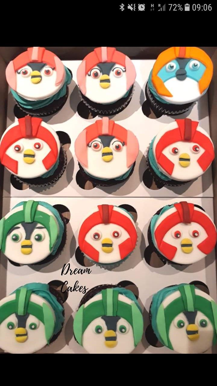 Personalised Cute Penguin Zoo Birthday Stickers Party Thank You Cake N315
