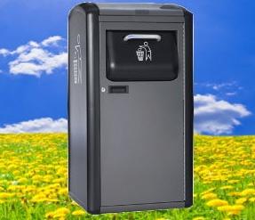 Solarbetriebene Müllpresse Big Belly soll to-go-Müll auf 1/7 zusammenpressen  - #waste