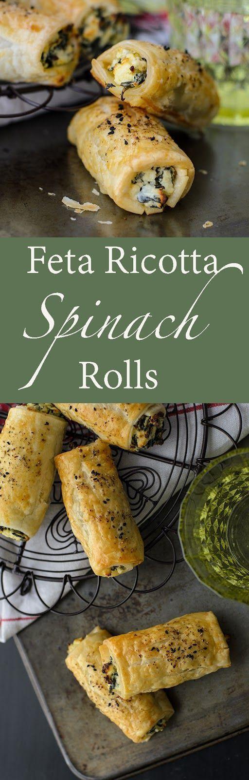 Feta Ricotta Spinach Rolls[EXTRACT]Feta Ricotta Spinach Rolls