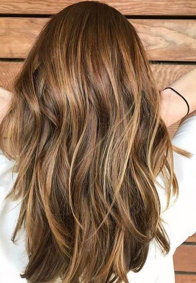 warm light brunette highlights