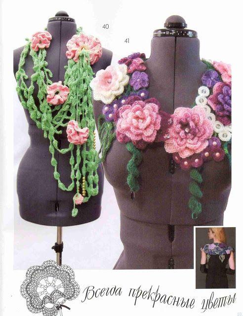 Patrón #1421: Cuellos a Crochet | CTejidas [Crochet y Dos Agujas]