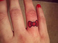 ... Finger Tattoos on Pinterest | Bow Tattoos Finger Tattoos and Girly