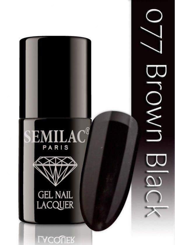 Semilac 077 Brown Black UV&LED Nagellack