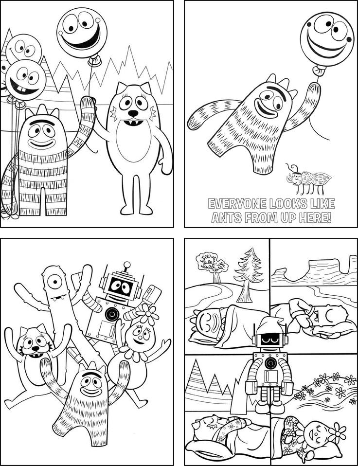16 best yo gabba gabba images on pinterest yo gabba gabba bucket i put coloring sheets in my favor buckets with yo gabba gabba crayons thecheapjerseys Image collections