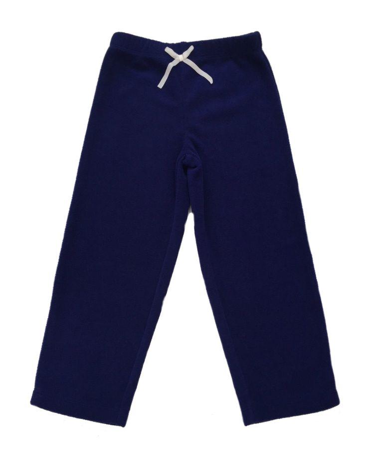 Girl's Warm Navy Polar Fleece Pyjama