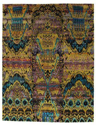 Tapis Sari pure soie VEXC3 246x315 de Inde - Achetez vos tapis chez CarpetVista