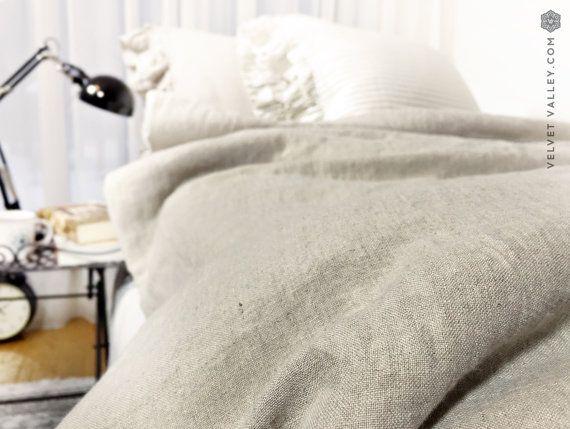 Ropa de cama de lino del hotel de lujo del 100 fijada