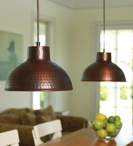 Hammered Copper Dome Pendant Light