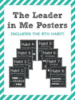 Leader in Me Chalkboard Posters - Classroom Decor