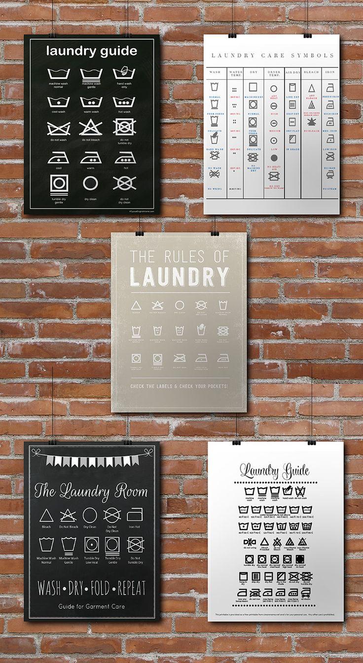 Lustige Printables für die Waschküche - Falls sich der Ehemann doch mal die hin verirrt