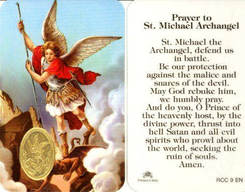 Brand New  Features  St. Michael the Archangel Prayer Card (RCC 9E)  color
