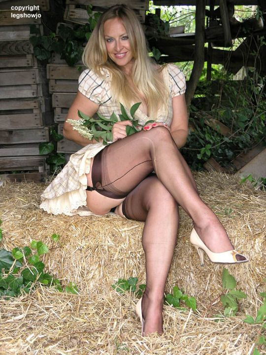 Lucky french women in pantyhose wish