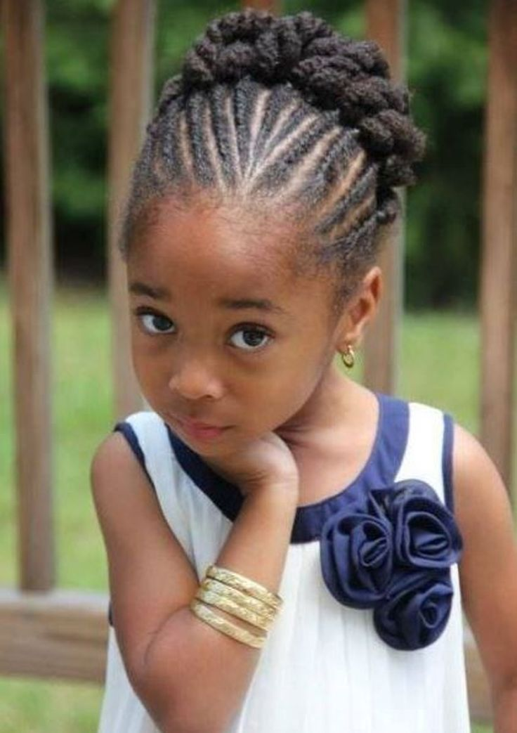 Idées de coiffure pour petite fille : Tresses africaines