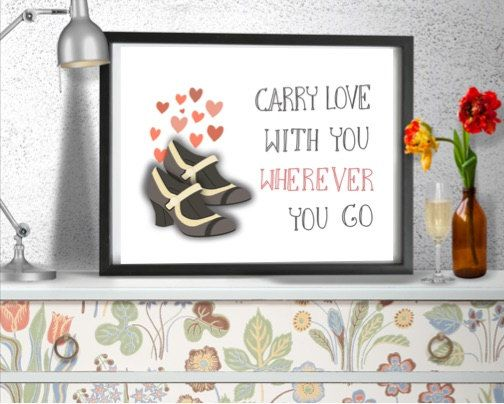 Carry love with you wherever you go quote. Wall art by AfterEarth