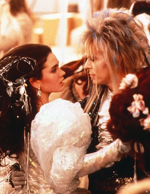 "Jennifer Connelly and David Bowie in ""Labyrinth,"" 1986"
