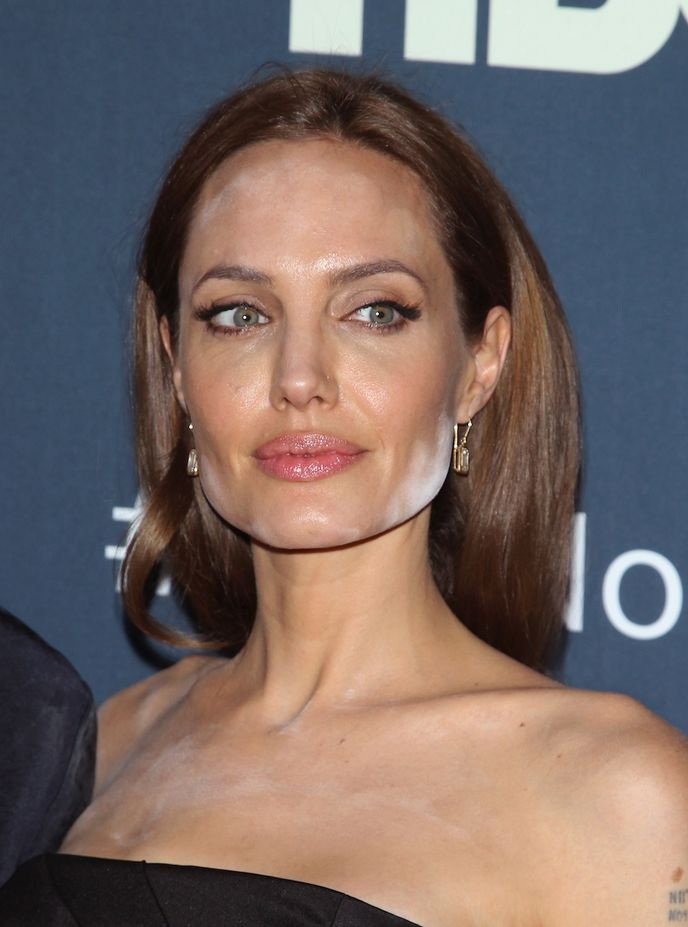 Angelina Jolie powder fail: More of the worst celebrity makeup faux pas - Mirror Online