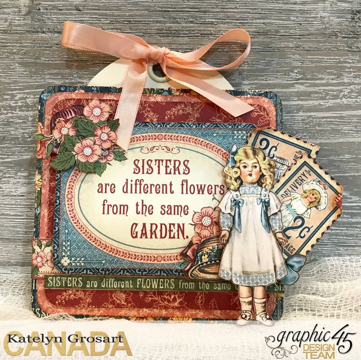 """Penny's Paper Doll Family - Now in Stores.  2. Gift Tags This collection is perfect for the whole family.  Personalize gifts with handmade tags.    Tip: Use a 3""""x4"""" card as the focal point for your tag and then embellish your tag from there with fussy cut images. By G45 Brand Ambassador, Katelyn Grosart"""
