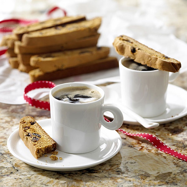 Ginger Raisin Biscotti - recipe from www.calraisins.org
