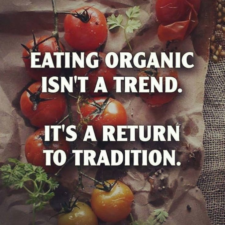 Fresh ingredients didn't use to come doused in chemicals... http://www.naturalnews.com