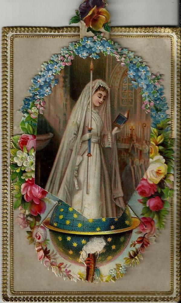 """Very old card """"souvenir de ma première communion"""""""