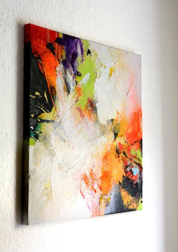 Abstract Acrylic Painting Original Square Abstract Art On
