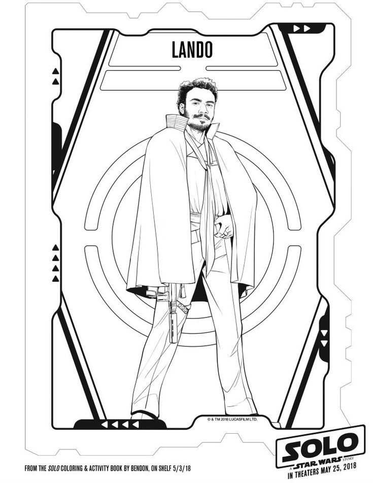 Free Disney Star Wars Printable Lando Coloring Page With Images
