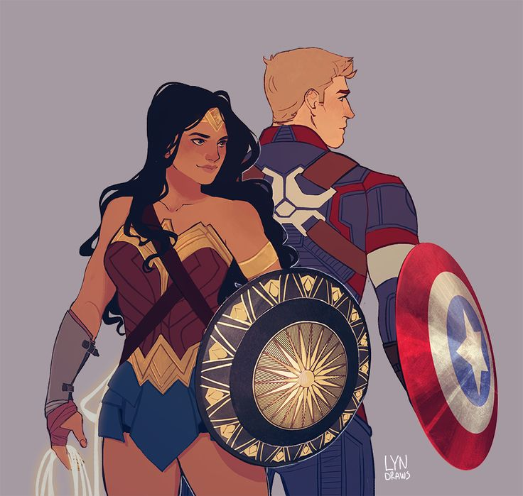 had to draw my favorite superheroes together….guess i have a type :^)