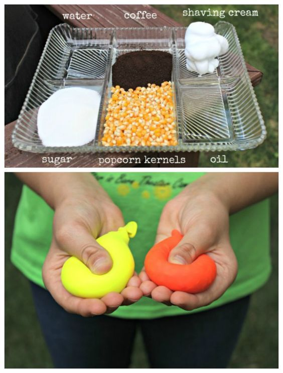 {Sensory Guessing Game} Stuff balloons with a variety of fillings and have kids use their senses to guess what's in each one!  Great for kids of all ages