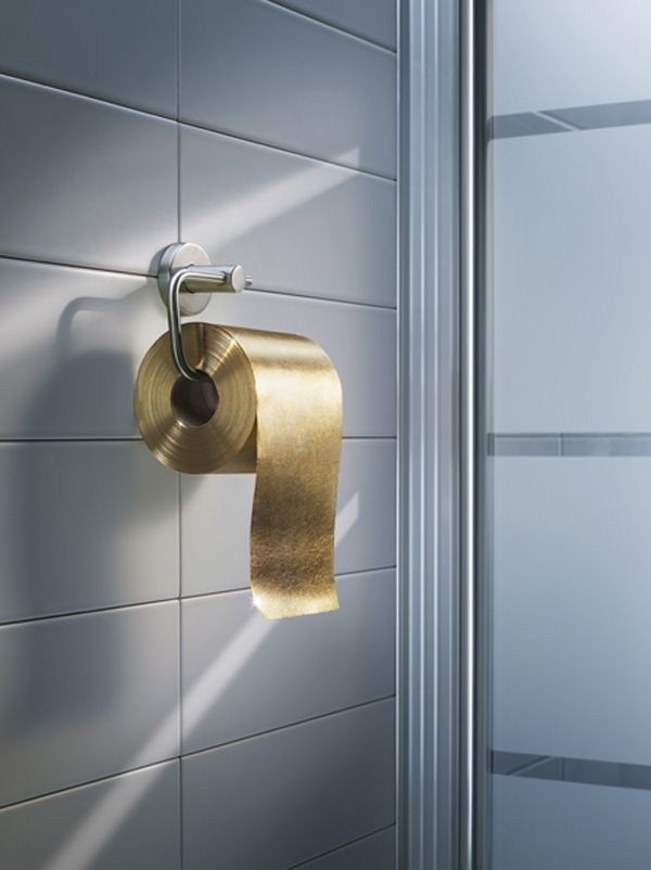 Jean Louis von Dardel Gold Toilet Roll lifestyle inspiration   from the storeroom @ POTW