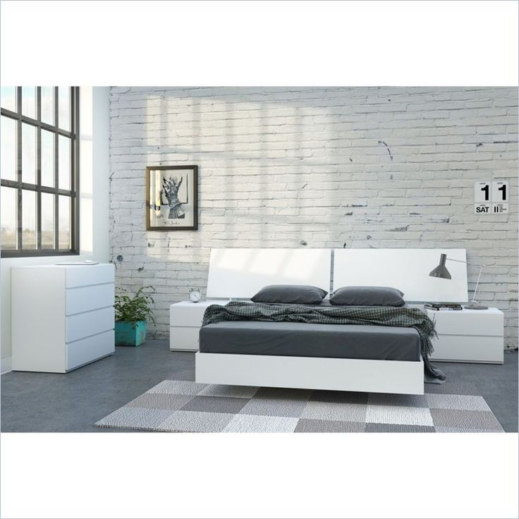 full size platform bed in white and melamine - Platform Bed Full